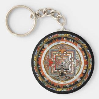 Kalachakra Mandala Basic Round Button Keychain
