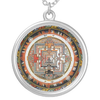 Kalachakra Mandala Silver Plated Necklace