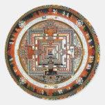 Kalachakra Sand Mandala Classic Round Sticker