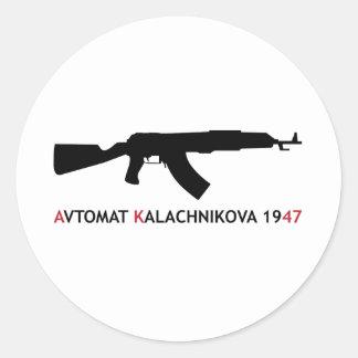 **KALACHNIKOV** CLASSIC ROUND STICKER