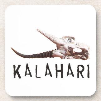 Kalahari desert in Africa: Dead antelope skull Coasters