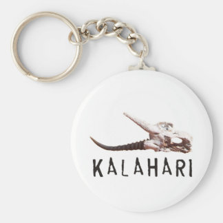 Kalahari desert in Africa: Dead antelope skull Basic Round Button Keychain