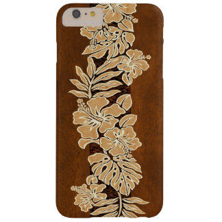 Kalaheo Hawaiian Hibiscus Tapa Faux Koa Wood Barely There iPhone 6 Plus Case