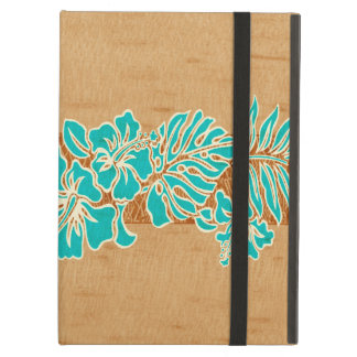 Kalaheo Hawaiian Hibiscus Tapa Faux Wood iPad Air iPad Air Case