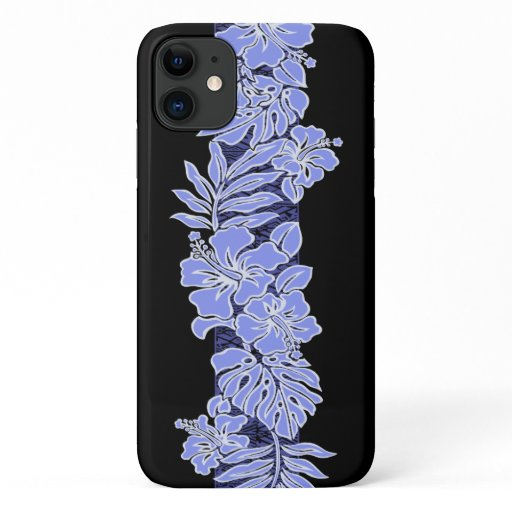 Kalaheo Hawaiian Peri Hibiscus Tapa with Black iPhone 11 Case