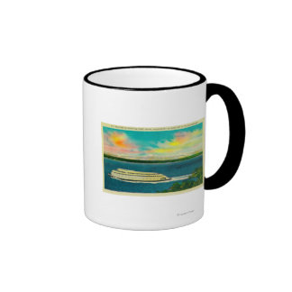 Kalakala Ferry Puget Sound Olympic Mountains Mug