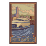 Kalakala Ferry Seattle, WA Vintage Travel Poster