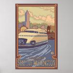 Kalakala Ferry Seattle, WA Vintage Travel Poster