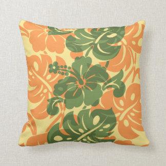Kalakaua Border Hawaiian Hibiscus Pillows