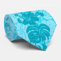 Kalakaua Border Hawaiian Hibiscus Two-side Printed Neck Tie