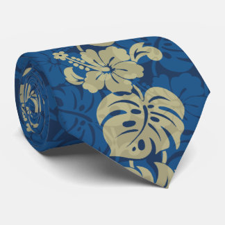 Kalakaua Border Hawaiian Hibiscus Two-side Printed Tie
