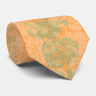 Kalakaua Border Hawaiian Hibiscus Two-side Printed Tie