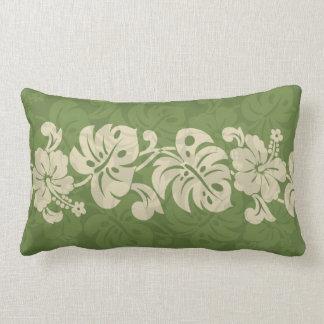 Kalakaua Hawaiian Hibiscus Border KL301 Lumbar Pillow