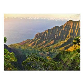 Kalalau Lookout - Kauai, Hawaii Photo Print
