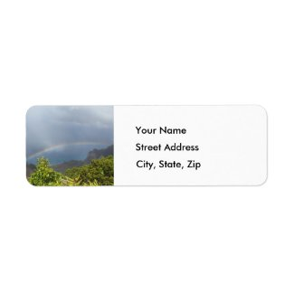 Kalalau Rainbow Address Label