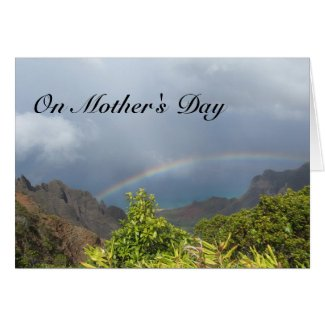 Kalalau Rainbow Mother's Day Card