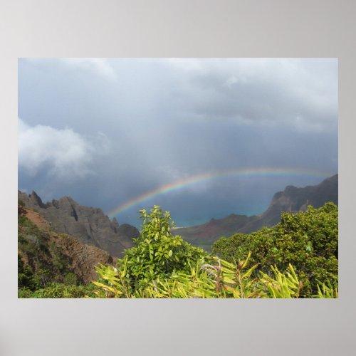 Kalalau Rainbow Poster
