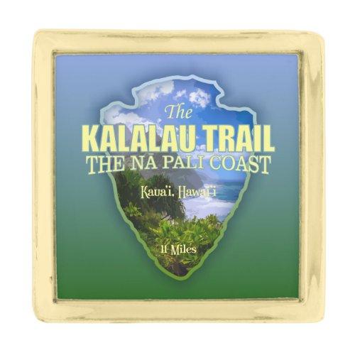Kalalau Trail (arrowhead) Gold Finish Lapel Pin