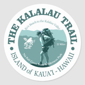 Kalalau Trail Classic Round Sticker