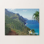 "Kalalau Trail Jigsaw Puzzle<br><div class=""desc"">11"" x 14"" jigsaw puzzle with an image of a section of the Kalalau Trail along Kauai&#39;s hauntingly beautiful Na Pali Coast. The trail runs approximately 11 miles along the island&#39;s north shore from Keʻe Beach to the Kalalau Valley. See the entire Hawaii Puzzle collection in the HOME section.</div>"