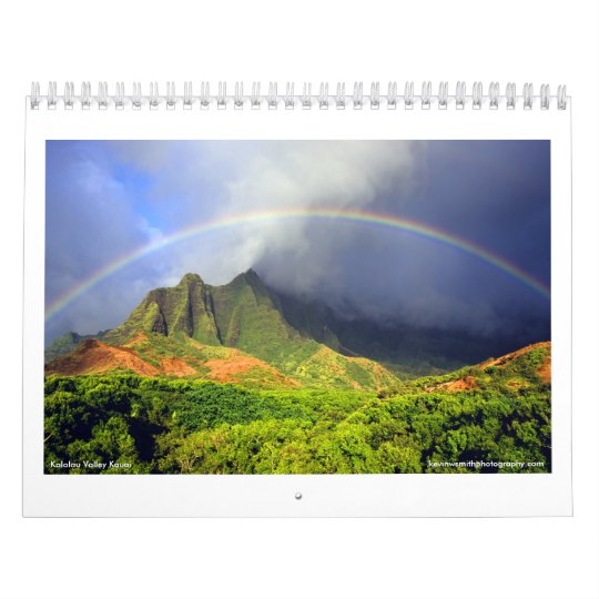 Kalalau Valley Hawaii Calendar