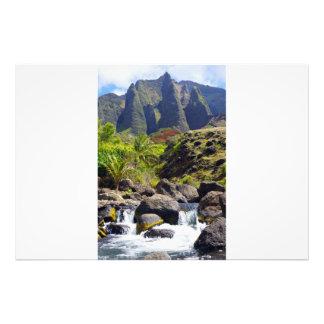 Kalalau Valley Spires and Stream Photo Print