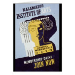Kalamazoo Institute of Arts  - WPA Poster - Card