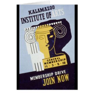 Kalamazoo Institute of Arts  - WPA Poster - Card