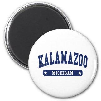 Kalamazoo Michigan College Style tee shirts Magnets