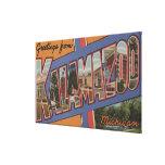 Kalamazoo, Michigan - escenas grandes de la letra Impresion De Lienzo