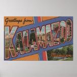 Kalamazoo, Michigan - escenas grandes de la letra Poster