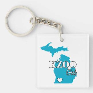 Kalamazoo Michigan Kzoo Girl Personalized Keychain