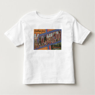 Kalamazoo, Michigan - Large Letter Scenes Toddler T-shirt