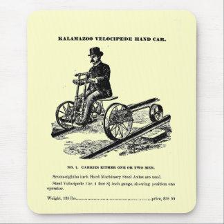 KALAMAZOO Velocipede Railroad Hand Car 1887 Mouse Pad