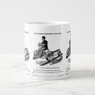 KALAMAZOO Velocipede Railroad Hand Car 1887 Jumbo Mugs
