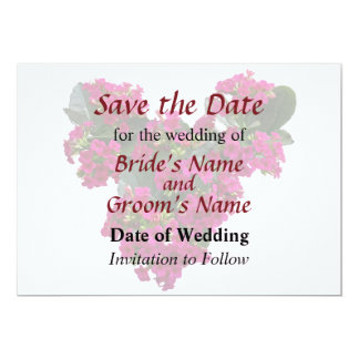 Kalanchoe Heart Save the Date 5x7 Paper Invitation Card