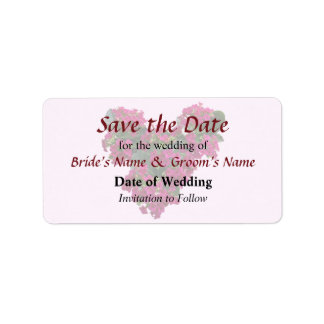 Kalanchoe Heart Save the Date Label