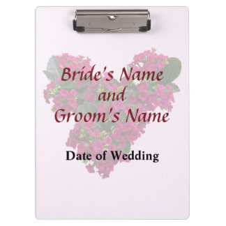 Kalanchoe Heart Wedding Products Clipboards