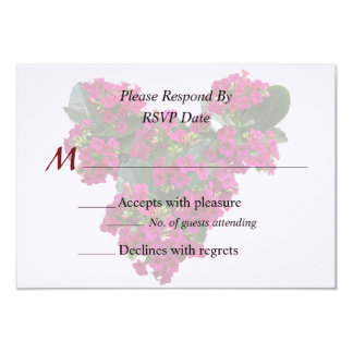 Kalanchoe Heart Wedding Products 3.5x5 Paper Invitation Card
