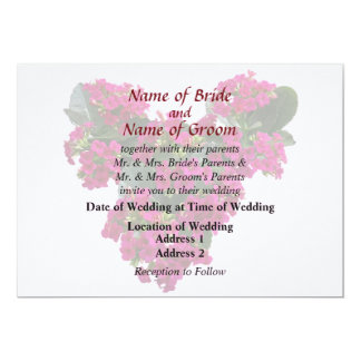 Kalanchoe Heart Wedding Products 5x7 Paper Invitation Card
