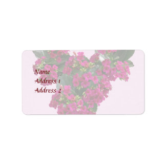 Kalanchoe Heart Wedding Products Label