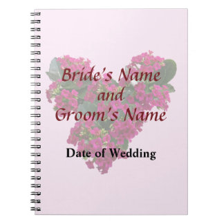 Kalanchoe Heart Wedding Products Spiral Notebook