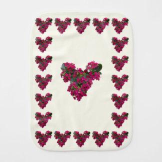 Kalanchoe Heart Baby Burp Cloths