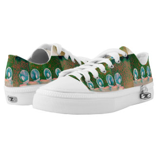 Kalanchoe Plant Abstract Low-Top Sneakers