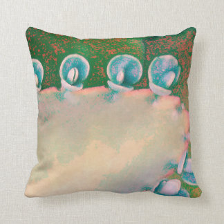 Kalanchoe Plant Abstract Throw Pillow