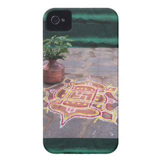 Kalas Vase swastika rangoli indian wedding Symbols iPhone 4 Case-Mate Case
