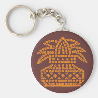 Kalash Pattern Basic Round Button Keychain