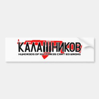 Kalashnikov Ak-47 Pegatina Para Auto