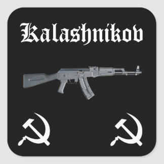 Kalashnikov AK-47 Square Sticker