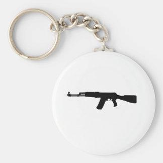 Kalashnikov del rifle de asalto de AK-47 Llavero Redondo Tipo Pin